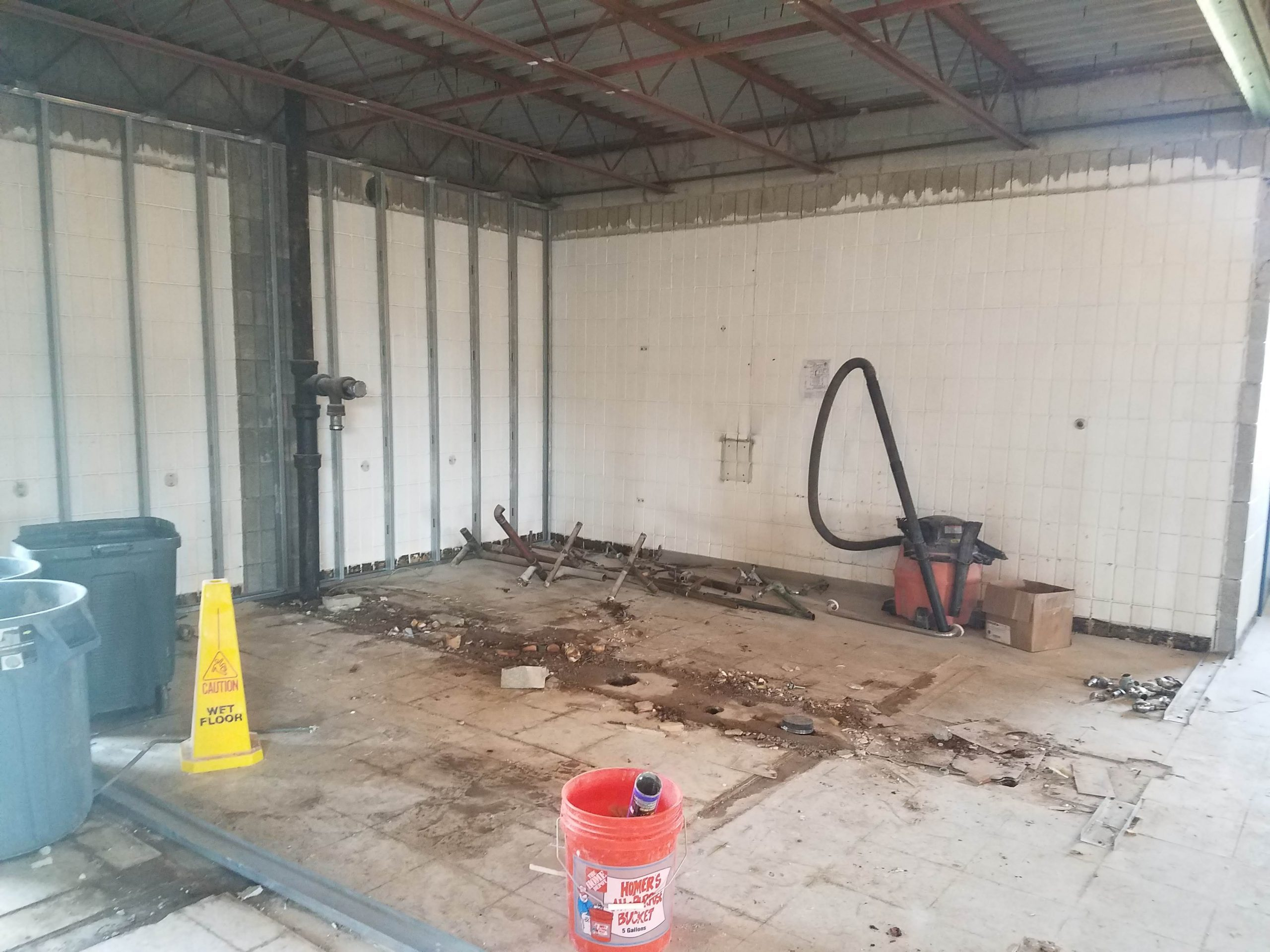 Old dingy bathrooms are gone!