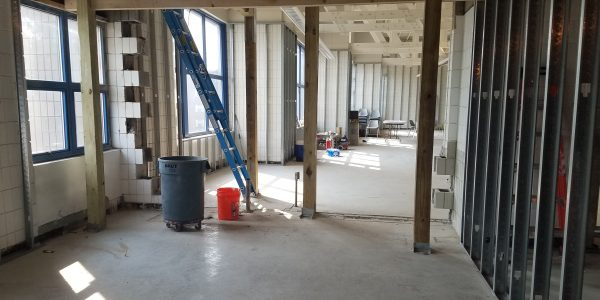 Future Staff Room, looking out into the kid's area