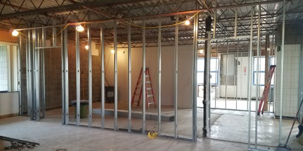 Future Program Room – You can see the 2 entrances that will allow us to have simultaneous programs!