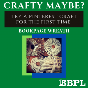 Book page wreath instructions