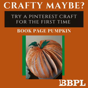 Book page pumpkin instructions