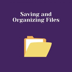 Saving and organizing files pdf